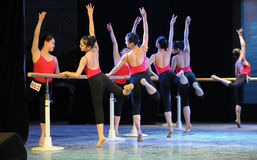 Training for the barre-Basic dance training course Stock Image