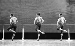 Training for the barre-Basic dance training course Stock Photography
