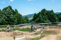 Training base with tracks for cyclists outside the city Stock Image