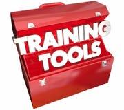 Training bearbeitet den Werkzeugkasten, der Bildungs-Kurs lernt Stockfoto