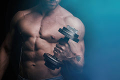 Training for biceps Royalty Free Stock Photos