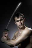 Training with blade Royalty Free Stock Photo