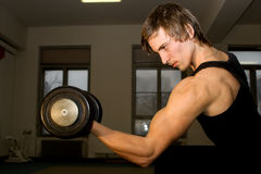 Training of bodybuilder Stock Photo