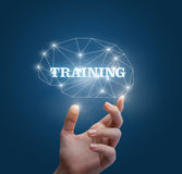 Training for the brain. Training for the brain concept design stock photography