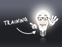 Training Bulb Lamp Energy Light gray Royalty Free Stock Photos