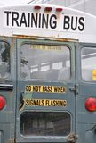 Training bus sign Royalty Free Stock Photo