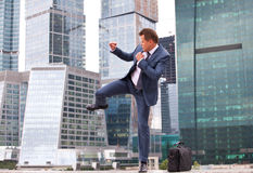 Training businessman Stock Photo