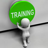 Training Button Means Education Induction Stock Photography