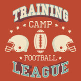 Training camp american football t-shirt Stock Photos