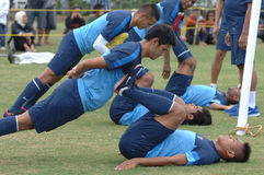 The training camp indonesia international football Royalty Free Stock Photos