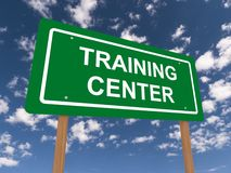 Training center sign Royalty Free Stock Images