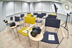 Training class in photography school Stock Photos