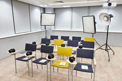 Training class in photography school Royalty Free Stock Image