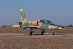 Training and combat `Albatross` rolls along the taxiway. Training aircraft L39, Kuschevskaya, Russia, 3 October 2015 Stock Photo