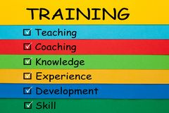 Training Keywords Concept royalty free stock photography