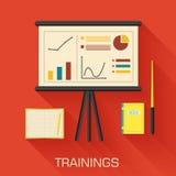 Training concept design. Analytics business desk Stock Image