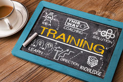 Training concept with education elements Royalty Free Stock Photography