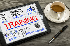 Training concept with education elements Royalty Free Stock Image