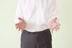 Training concept. The man hands forward stock photography