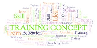 Training Concept word cloud vector illustration
