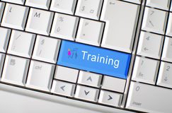 Training concept. Training written on a keyboard Royalty Free Stock Photography