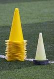 Training cones royalty free stock photo