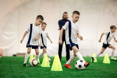 Training by cones Stock Photography
