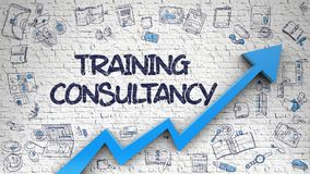Training Consultancy Drawn on White Brickwall. 3d Royalty Free Stock Photo