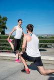 Training - couple exercising Royalty Free Stock Image