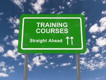 Training courses straight ahead Royalty Free Stock Image