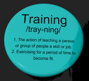 Training Definition Button Showing Education Instruction Or Coac Royalty Free Stock Photos