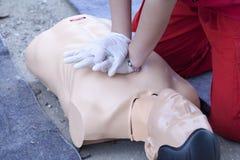 Training der Ersten ERSTE HILFE Lizenzfreies Stockfoto