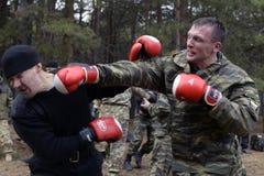 Training der russischen Polizei Besondere Kräfte swat Lizenzfreies Stockbild