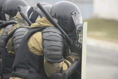 Training der russischen Polizei Besondere Kräfte swat Lizenzfreie Stockbilder