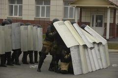 Training der russischen Polizei Besondere Kräfte swat Lizenzfreie Stockfotografie