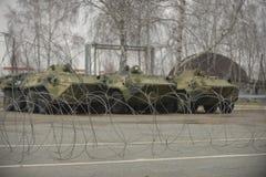 Training der russischen Polizei Besondere Kräfte swat Stockbild