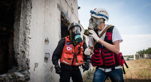 Training detachment of the Red Cross Royalty Free Stock Image