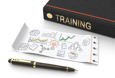 Training and developmen royalty free illustration