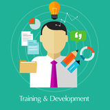 Training and development business education train skill improvement. Vector vector illustration
