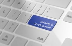 Training & Development - Button on Keyboard. Stock Images