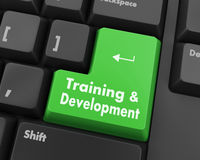 Training & Development. Button on Modern Computer Keyboard Stock Photo