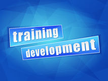 Training development, flat design Stock Photography