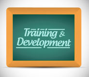 Training and development message illustration Stock Photos
