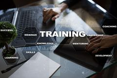 Training and development Professional growth. Internet and education concept. Royalty Free Stock Images