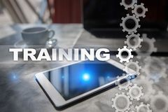 Training and development Professional growth. Internet and education concept Stock Photos