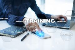 Training and development Professional growth. Internet and education concept. royalty free stock photo