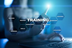 Training and development. Professional growth. Internet and education concept. Training and development. Professional growth. Internet and education concept royalty free stock photo