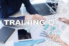 Training and development Professional growth. Internet and education concept. Stock Photo