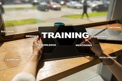 Training and development Professional growth. Internet and education concept Stock Photo