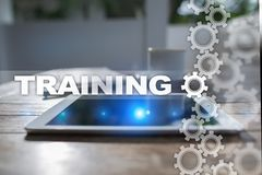 Training and development Professional growth. Internet and education concept. stock image